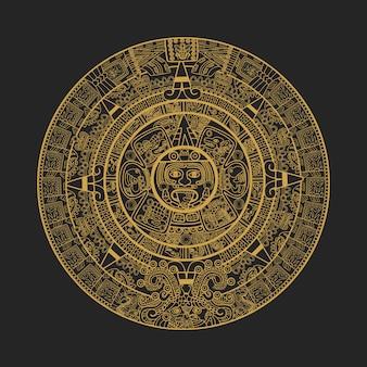 Maya aztec kalendarz