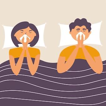 Mąż i żona zachorowali na grypę