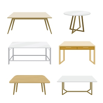 Meblarski drewniany stół odizolowywający ilustracyjny wektor