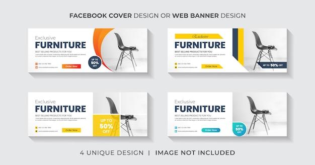 Meble facebook okładka lub szablon projektu banera internetowego