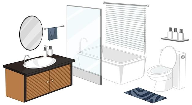 Meble łazienkowe na białym tle