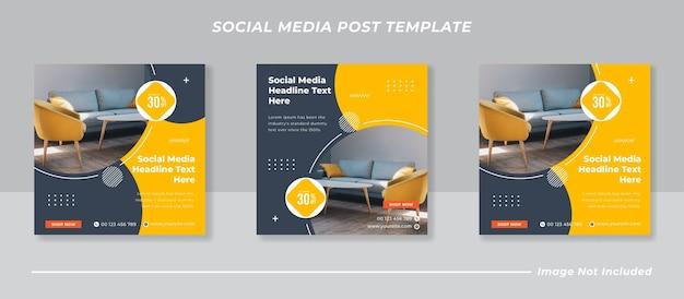 Meble społecznościowe i szablon postu na instagramie