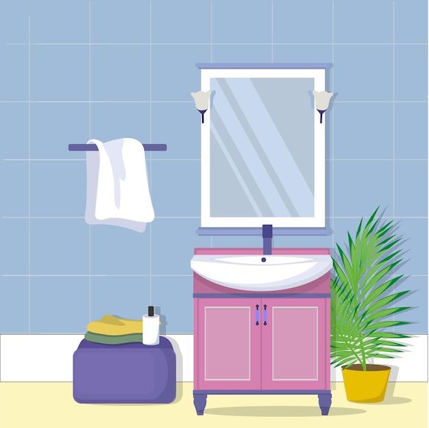 Meble w łazience. toaletka z lustrem.