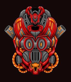 Mecha robot potwór obcy ilustracja sztuki