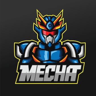Mecha robots maskotka sport projekt ilustracji dla drużyny logo esport gaming team