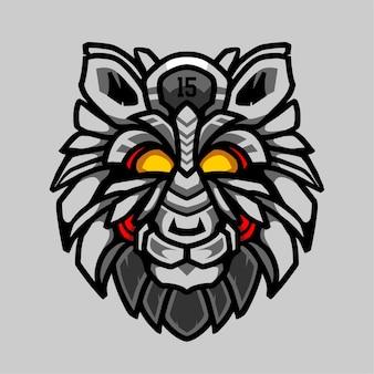 Mecha wilków ilustracyjny projekt