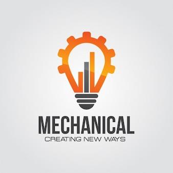 Mechaniczna technologia logo