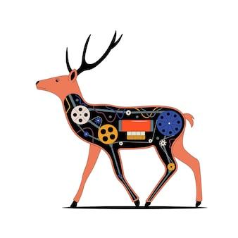 Mechaniczny jeleń zarys