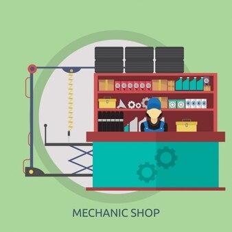 Mechanik sklep wzór tła