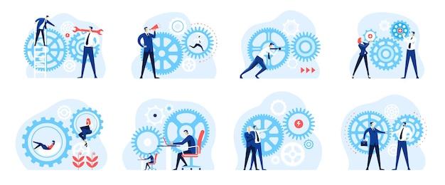 Mechanizm biznesowy środowisko pracy oparte na współpracy udana praca zespołowa koncepcja strategii rozwoju