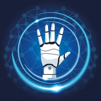 Mechatroniczna robotyczna ręka