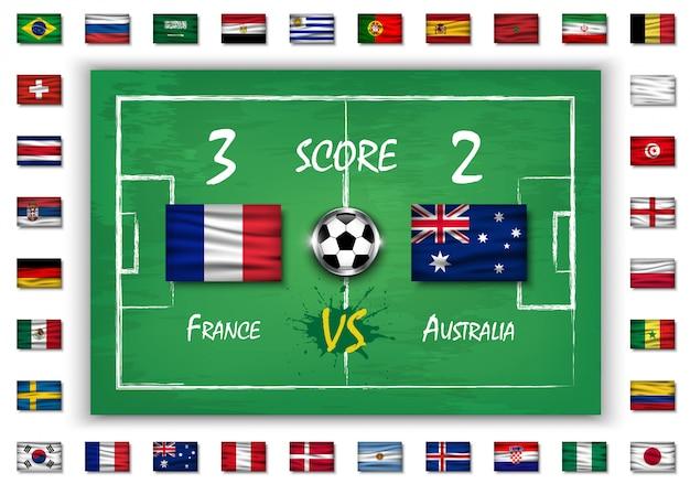 Mecz piłki nożnej lub piłki nożnej