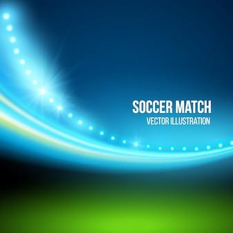 Mecz piłki nożnej, stadion. ilustracja