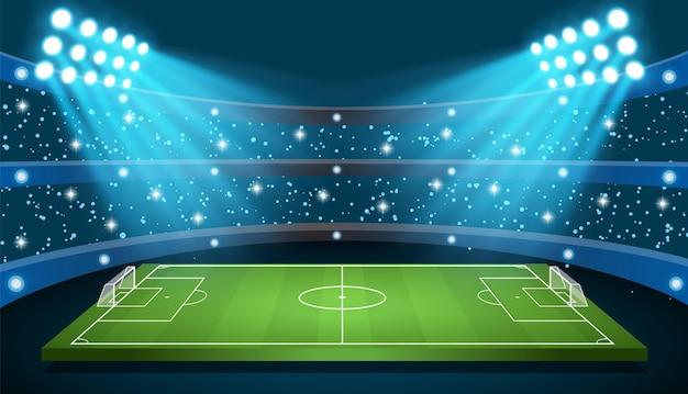 Mecz piłki nożnej stadion wektor