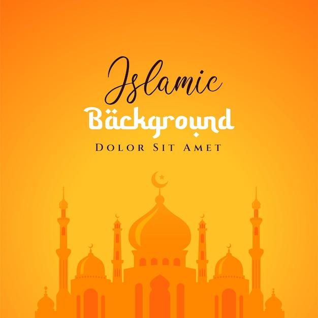 Meczet ilustracja projekt tło islamski. może być używany jako kartka z życzeniami, tło lub baner