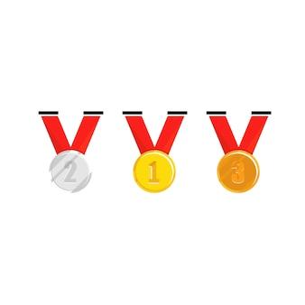 Medal champion z czerwoną wstążką