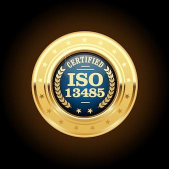 Medal normy iso 13485 - wyroby medyczne