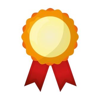 Medal rozeta zwycięzca nagrody ikona ilustracja wektorowa