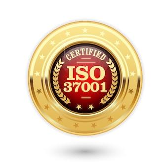 Medal z certyfikatem iso - systemy zarządzania antykorupcyjnego