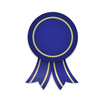 Medal z nagrodą ze wstążkami.