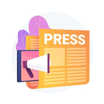 Media, informacja prasowa. wydawanie gazet, codzienne wiadomości, idea propagandowa. tabloid z nagłówkiem. reportaż, element projektu dziennikarstwa.