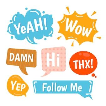 Media społecznościowe bańki slangowe