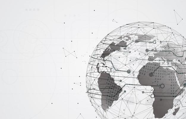 Media społecznościowe i informacje lub sieć. przyszła technologia cybernetyczna