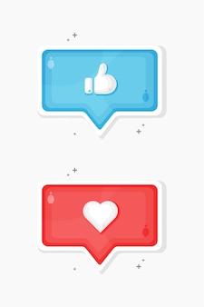 Media społecznościowe i ulubione projekty ikon