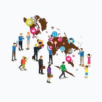 Media społecznościowe na całym świecie