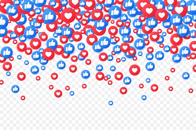 Media społecznościowe. upadek i kciuk w górę