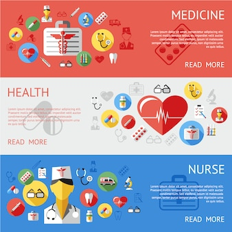 Medycyna banery kolekcji