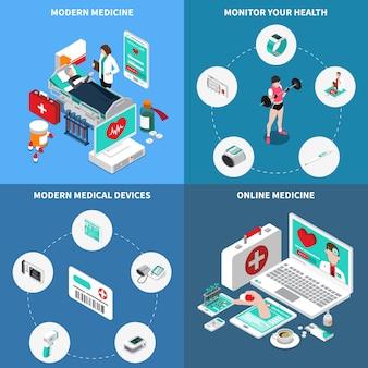 Medycyna cyfrowa izometryczny