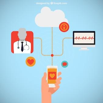 Medycyna gadżet infografika