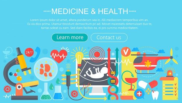 Medycyna i zdrowie infografiki szablon projektu
