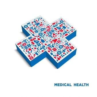 Medycyna ikona tle