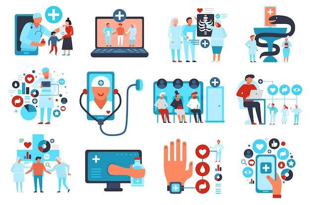 Medycyna online usługa opieki zdrowotnej mieszkanie