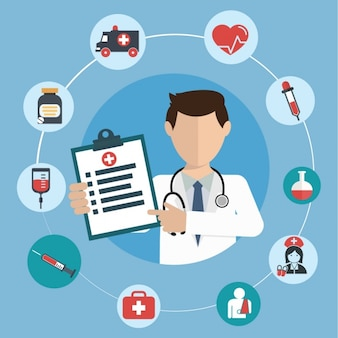 Medycyna wzór tła