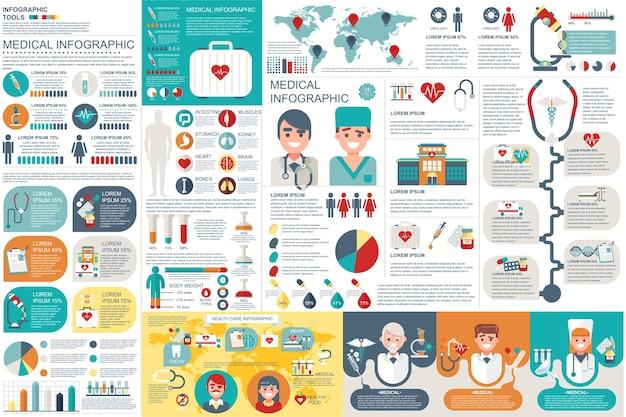 Medyczne infographic elementy wektor wzór szablonu