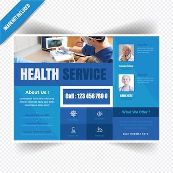 Medyczne poziome ulotki dla szpitala