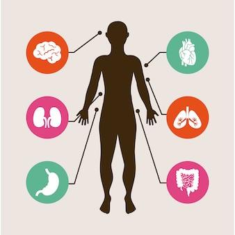 Medyczny dsign na białym tle ilustracji wektorowych