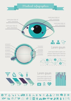 Medyczny infographic szablon.