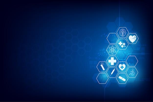 Medyczny opieki zdrowotnej nauki innowaci tło