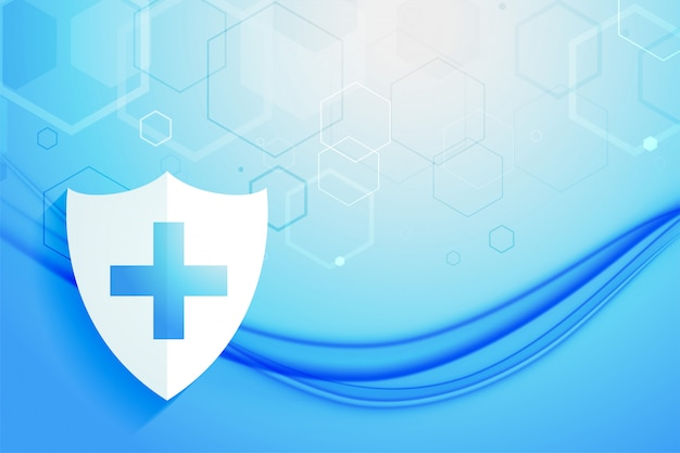 Medyczny system opieki zdrowotnej ochrony osłony tła projekt