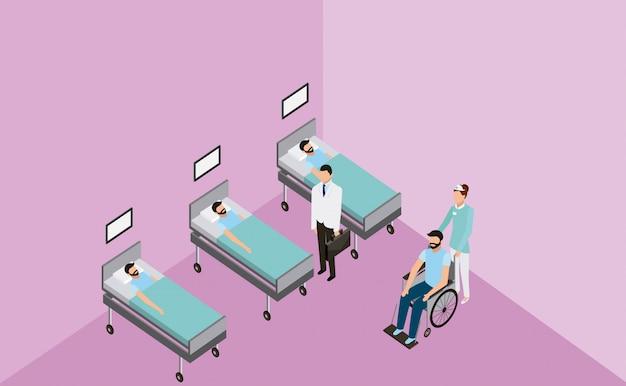 Medyczny szpital kliniki zdrowia