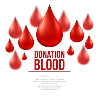 Medyczny transparent oddawania krwi