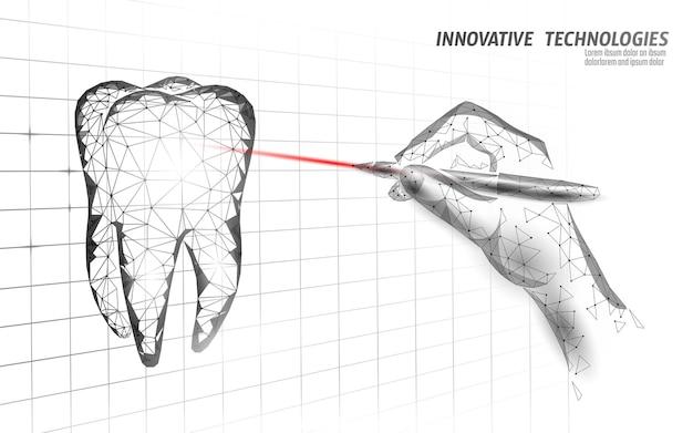 Medyczny zdrowy ludzki ząb 3d