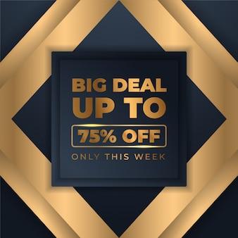 Mega flash sprzedaż banerów z czarnym złotem na sprzedaż