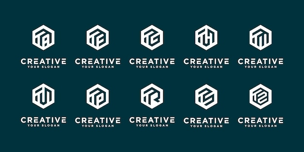 Mega kolekcja logo u i itp szablon projektu logo monogram.