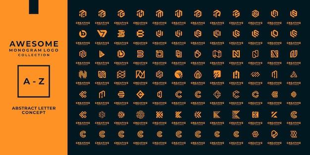 Mega Kolekcja Logo Z Monogramem. Premium Wektorów
