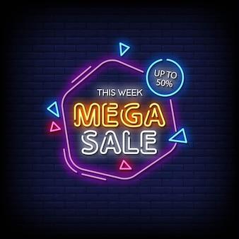 Mega sprzedaż neony w stylu tekstu